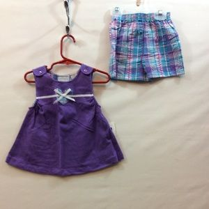 Basic Editions Infant Girls 12 mo 2pc Top & Short